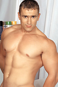 male muscle porn star: Andras Molnar, on hotmusclefucker.com