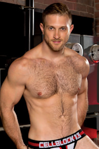 male muscle porn star: Paul Wagner, on hotmusclefucker.com