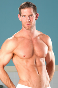 male muscle porn star: Dean Flynn, on hotmusclefucker.com