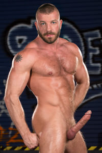 male muscle porn star: Hunter Marx, on hotmusclefucker.com