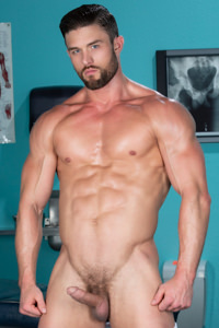 male muscle porn star: Ryan Rose, on hotmusclefucker.com