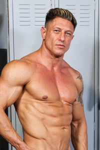 male muscle porn star: Bryce Evans, on hotmusclefucker.com