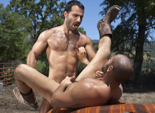 gay muscle porn clip: Cowboys Part 2 - Aybars & Leo Forte, on hotmusclefucker.com