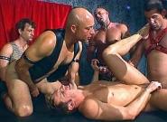Leather Daddies Gang Banging Brad Benton, Scene #05
