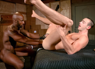 gay muscle porn clip: Warehouse Fists - Byron Saint & Race Cooper, on hotmusclefucker.com