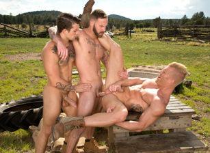 gay muscle porn clip: Total Exposure 1 - Chris Bines & Johnny V & Sebastian Kross, on hotmusclefucker.com