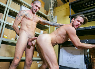 gay muscle porn clip: Screwing My Warehouse Buddy - Johnny Hazzard & Mike De Marko, on hotmusclefucker.com