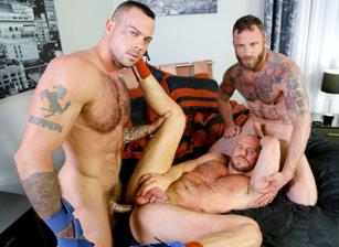 gay muscle porn clip: Special Massage - Derek Parker & Matt Stevens & Sean Duran, on hotmusclefucker.com