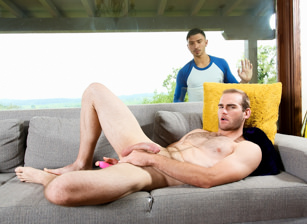 gay muscle porn clip: First Time Ass Play - Archer Jacques & Jonah Marx, on hotmusclefucker.com