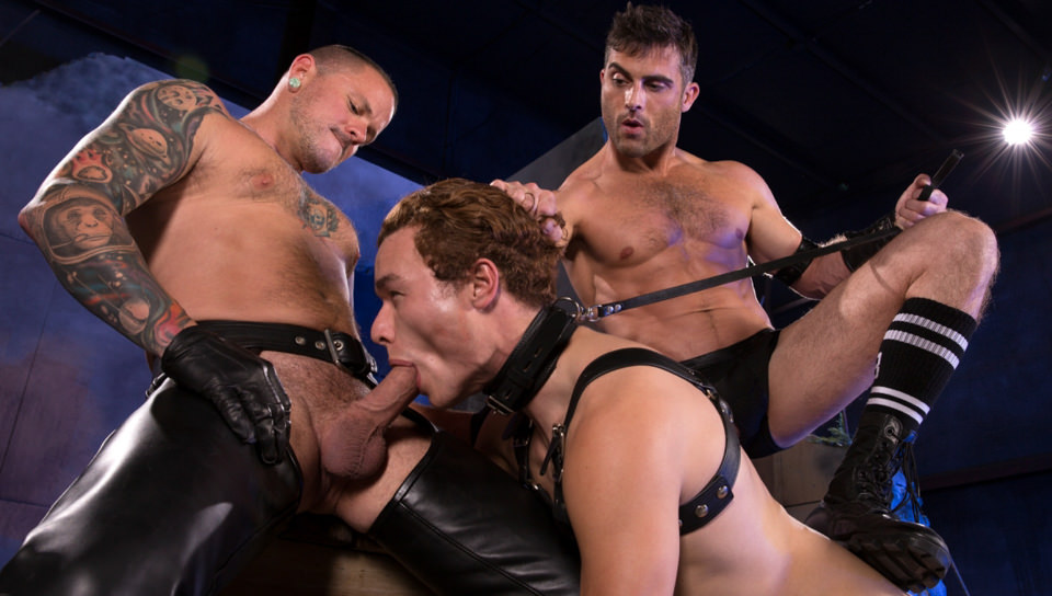 Maiale Puppy, Scene # 01 – Lance Hart, Micky Mackenzie, Max Cameron (fistingcentral)