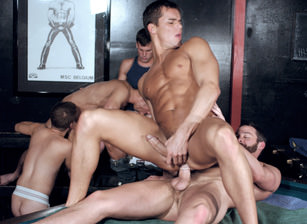 gay muscle porn clip: Getting It In The End - Blu Kennedy & Colby Taylor & Jason Spear & Justin Gemini & Roman Heart & Tony Bishop & Troy Apollo, on hotmusclefucker.com