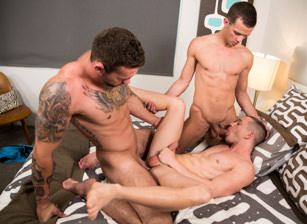 gay muscle porn clip: Cabana Bumps - Cameron Dalile & Logan Cross & Steve Rogers, on hotmusclefucker.com