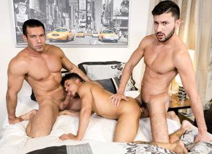 gay muscle porn clip: Big Dicked Couple - Alexander Garrett & Armond Rizzo & Scott DeMarco, on hotmusclefucker.com