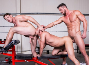 gay muscle porn clip: Spot Me - Josh Conners & Pierce Paris & Ryan Rose, on hotmusclefucker.com