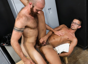 gay muscle porn clip: Oops I Thought I Was Alone - James Stevens & Mike Lobo, on hotmusclefucker.com