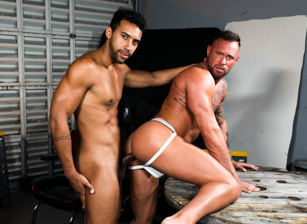 gay muscle porn clip: Give Me That Big Dick - Jay Alexander & Michael Roman, on hotmusclefucker.com