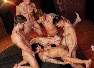 gay muscle porn clip: The Pledge - Colton Reece & Devin Franco & Nic Sahara & Trevor Miller & Zak Bishop, on hotmusclefucker.com