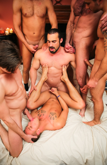 Brandon Wilde's First Gangbang Picture